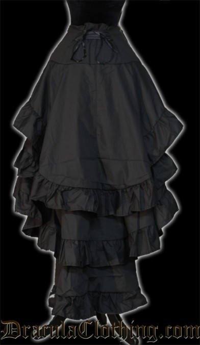 Black Layer Bustle Skirt