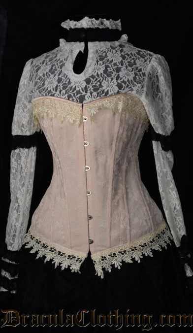 Cream Brocade Corselette