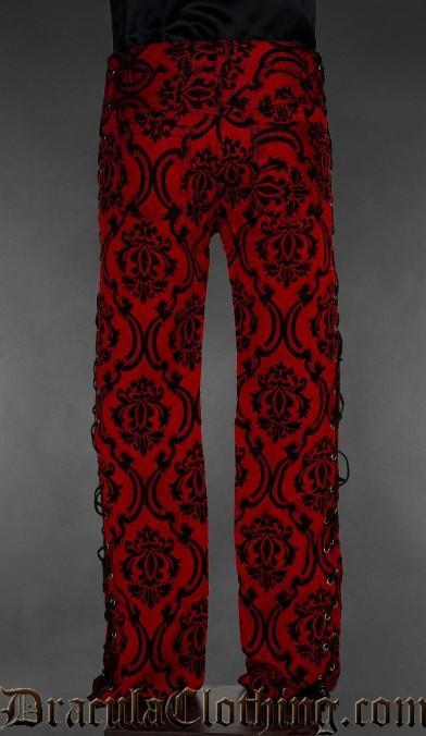 Crimson Laced Pants