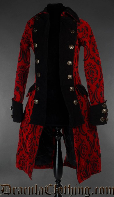 Crimson Pirate Princess Coat