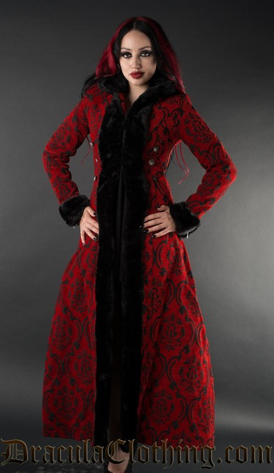 Crimson Shieldmaiden Coat