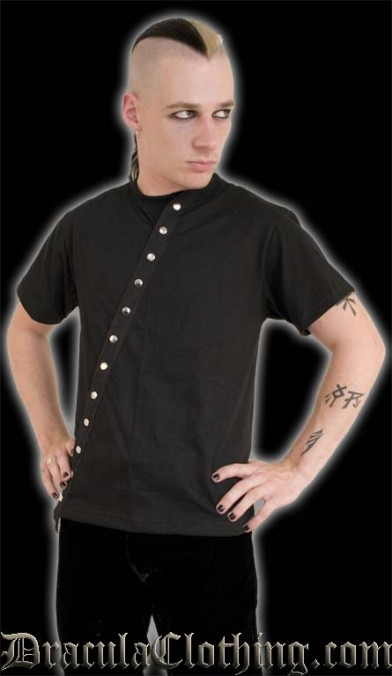 Diagonal Button T-Shirt