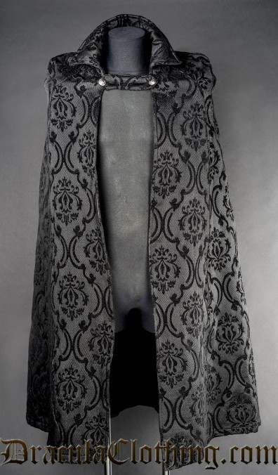 Black Brocade Male Cape