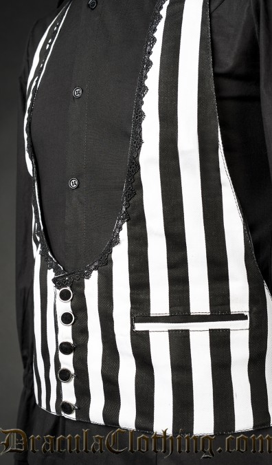 Black and White Waistcoat