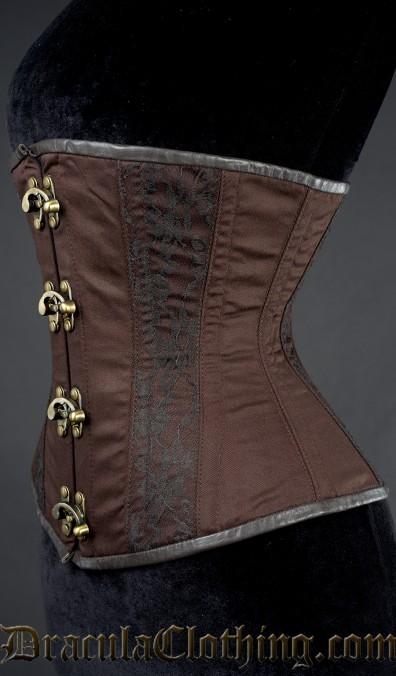 Steampunk Cotton Lace Corset, size 22