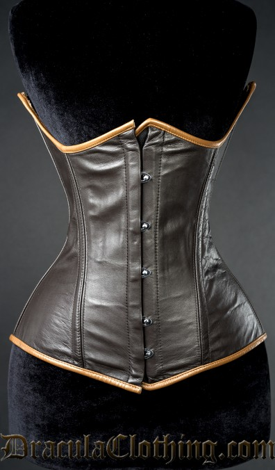 Steampunk Leather Underbust, size 22
