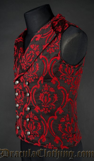 Thick Red Double Buttoned Vest