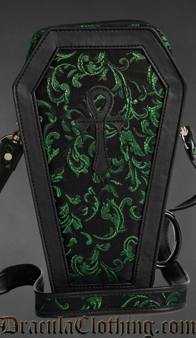 Emerald Ankh Coffin Bag
