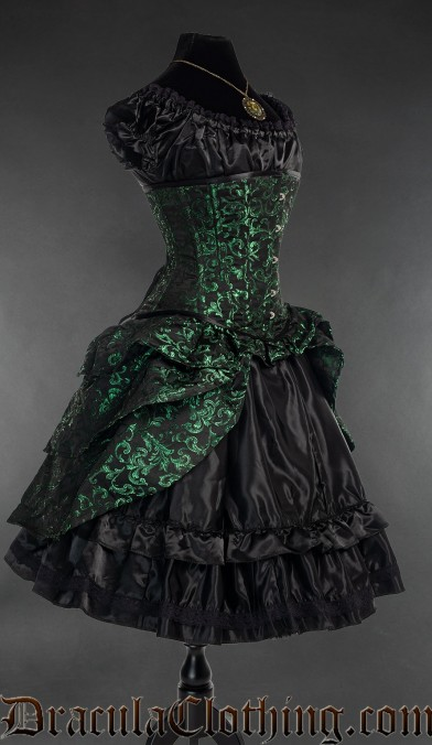 Emerald Bustle Corset
