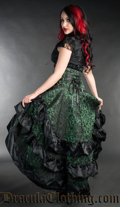 Emerald Layer Bustle Skirt