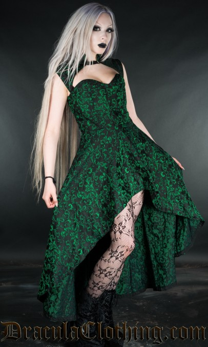 Emerald Steel Choker Dress