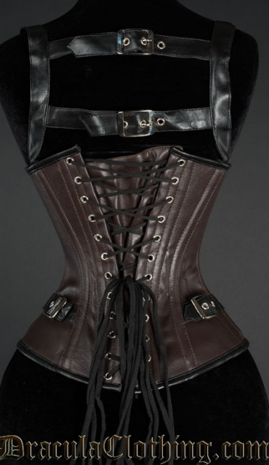 Heavy Faux Leather Buckle Corset