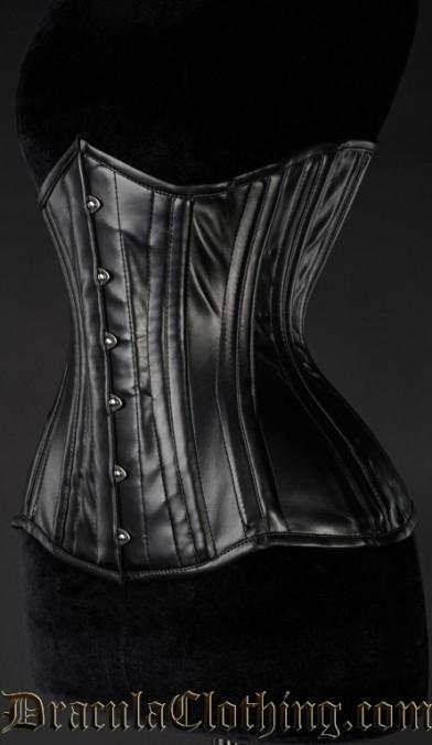 Faux Leather Extreme Waist Corset