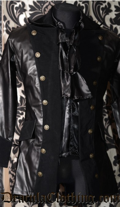 Faux Leather Pirate Jacket