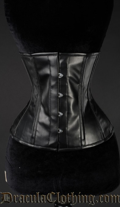 Faux Leather Underbust Corset