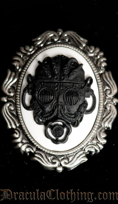 Gas mask Brooch