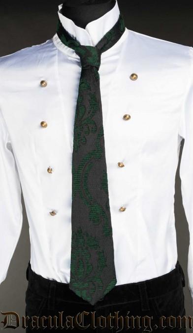 Green Brocade Tie