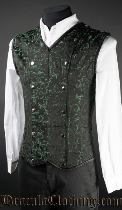 Green Brocade V-Shaper