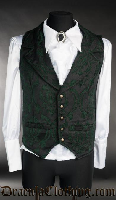 Green Brocade Waistcoat