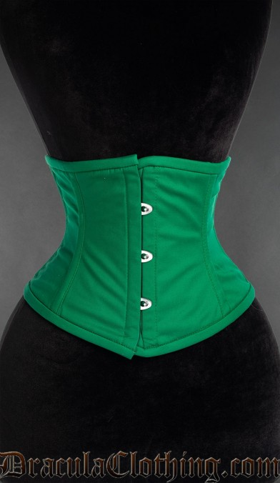 Green Cotton Waist Cincher