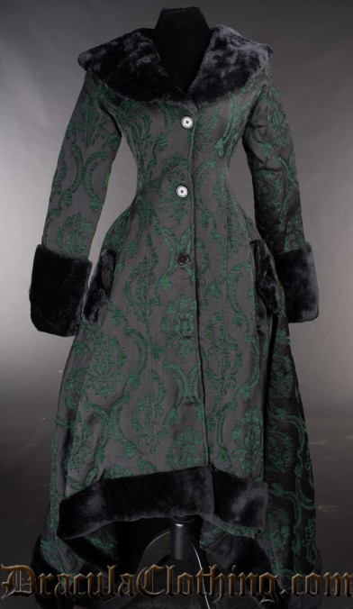 Green Pocket Winter Coat