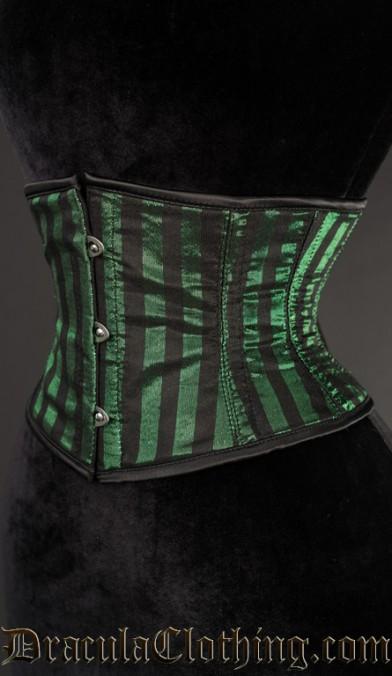 Green Striped Waist Cincher