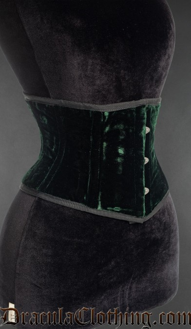 Green Velvet Waist Cincher