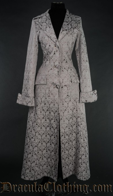 Grey Brocade Coat