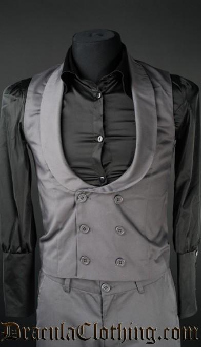 Grey Dracula Waistcoat