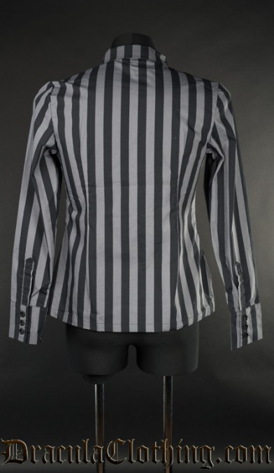Grey Striped Naval Shirt