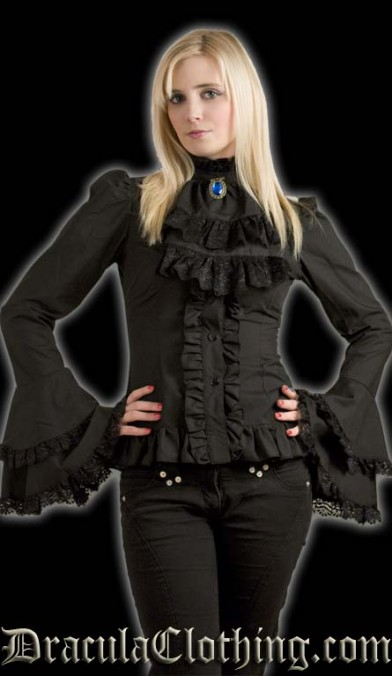 Black Cravat Blouse