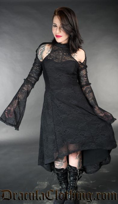 Lace Shoulder Dress