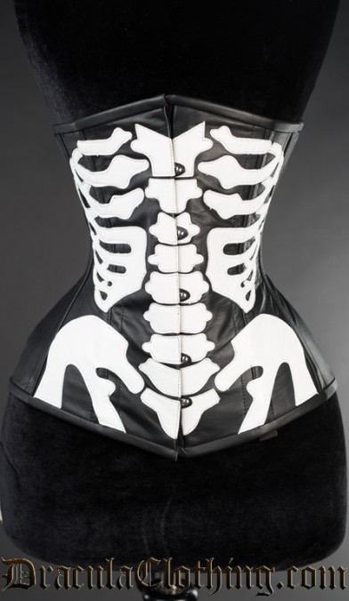 Leather Skeleton Underbust Corset