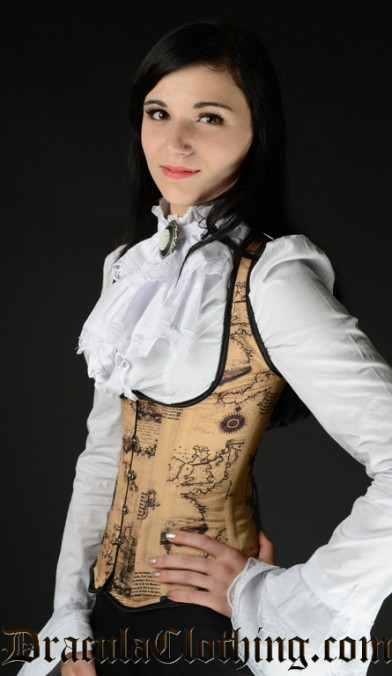 Map Shoulder Corset