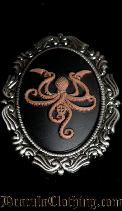 Octopus Cameo Brooch