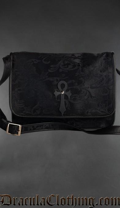 Onyx Ankh Shoulder Bag
