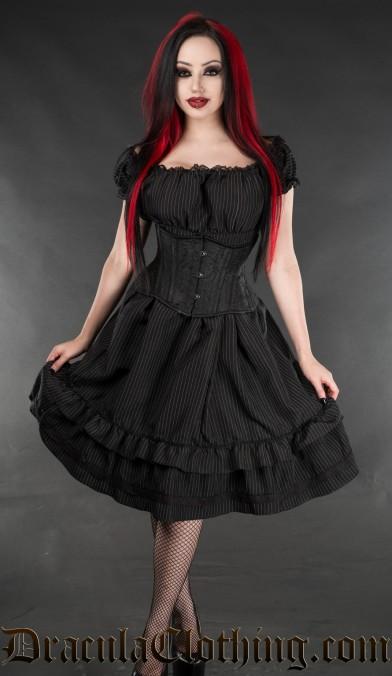 Pinstripe Gothabilly Dress