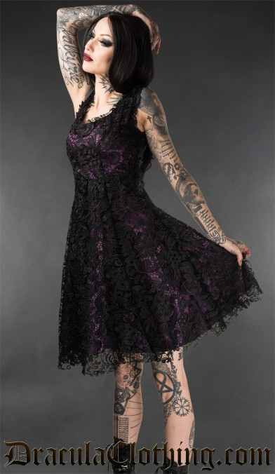 Purple Art Deco Dress