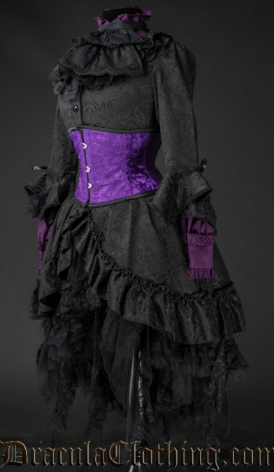 Black Brocade Queen Dress