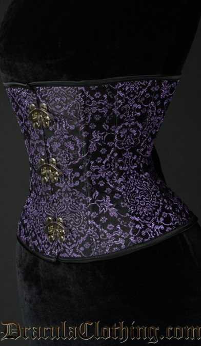 Purple Jacquard Clasp Corset