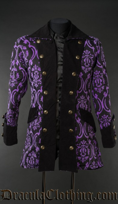 Purple Jacquard Pirate Jacket
