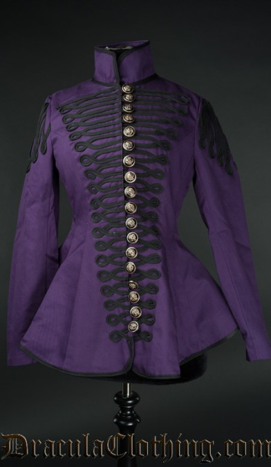Purple Ladies Military Jacket