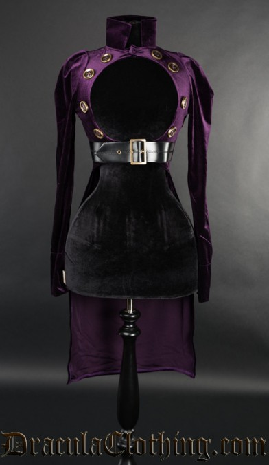 Purple Openbust Tailcoat