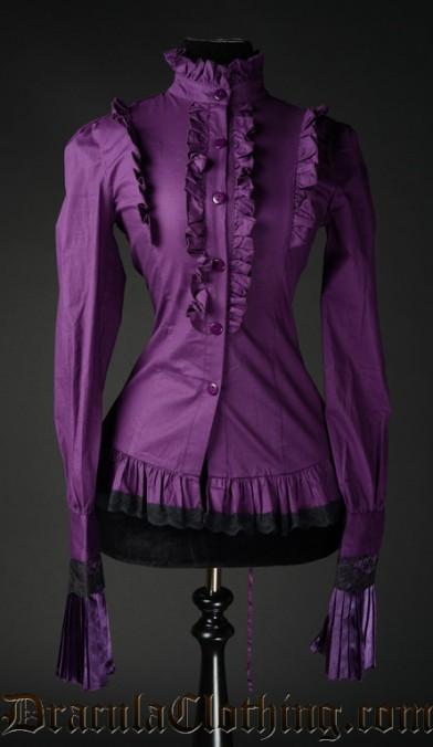 Purple Ruffle Blouse