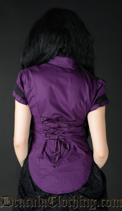 Purple Short Sleeved Blouse