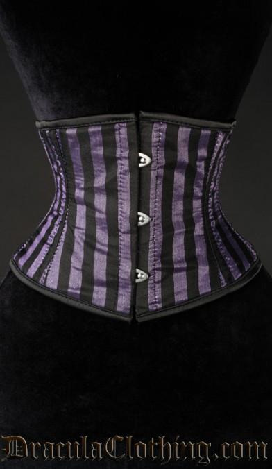 Purple Striped Waist Cincher