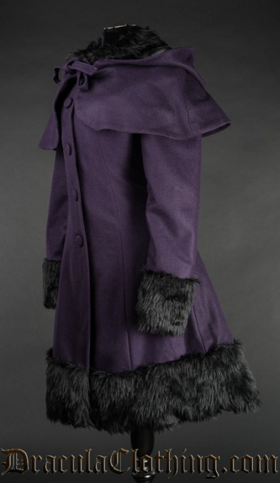 Purple Thick Winter Wool Coat