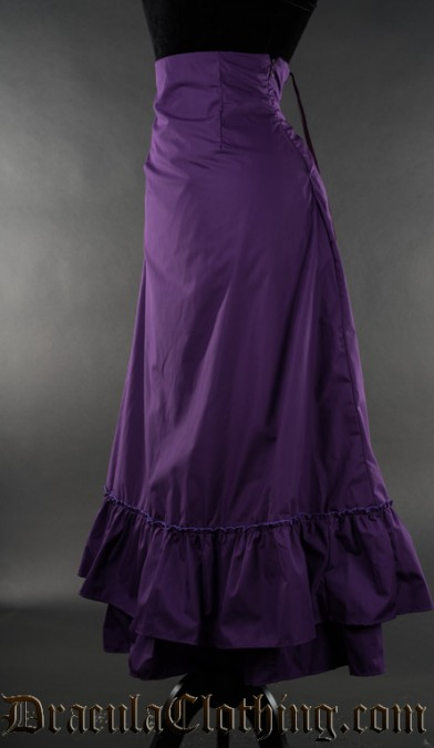 Purple Two Layer Bustle Skirt