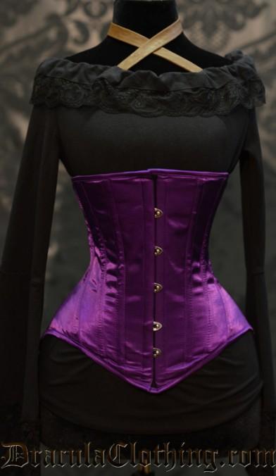 Purple Underbust Corset