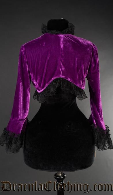 Purple Velvet Bolero